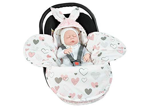 EliMeli Couverture universelle pour bébé - Pour nacelle, siège auto, poussette, landau, lit de bébé - Très haute qualité - En Minky