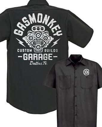 Gas Monkey Garage Distressed Engine Work Shirt Medium