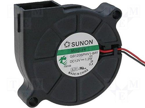 Sunon Radial Lüfter 50x50x15mm MF50151VX-A99 DC 12V 6000 U/min 42dBA Vapolager 2 Litzen (15mm 50mm X Lüfter)