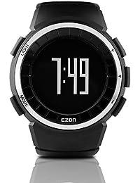 EZON T029 Montres numériques pour hommes avec podomètre Compteur de calories Chronomètre Alarme Sports Montre bracelet étanche