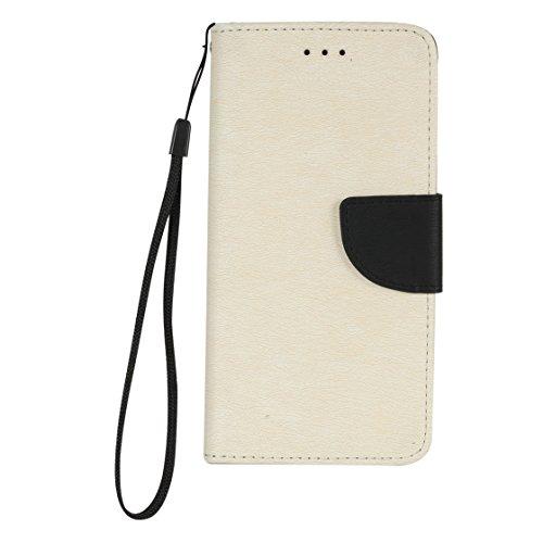 iPhone 6 Plus Coque, Voguecase Étui en cuir synthétique chic avec fonction support pratique pour Apple iPhone 6 Plus/6S Plus 5.5 (Rouge/Noir)de Gratuit stylet l'écran aléatoire universelle Blanc/Noir