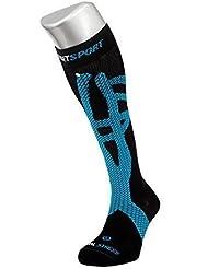 Reset Sport Tibial Stress - Calcetines compresivos con kinesiología aplicada, unisex, color azul, talla M