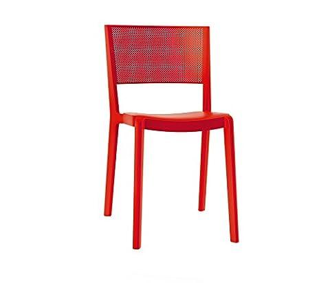 Resol chaise Spot - couleur rouge, set de 2 unités