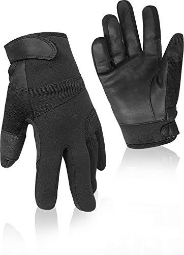 normani Tactical Neopren Einsatzhandschuhe mit schnitthemmender Kevlar®-Einlage Farbe Black Größe S