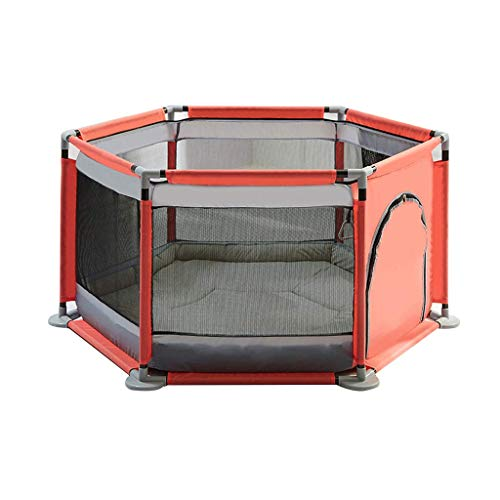 GWFVA Adorable Safety Play Center Yard Infants Baby Safe Play Pen Portable Playard/Indoor and Outdoor Kids Activity Center for Playroom Nursery Play Gym Non-Slip No Odors