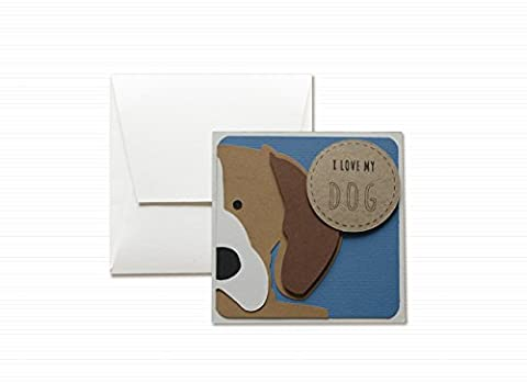 I love my dog - Beagle - four-legged companion - greeting card with envelope (4,7