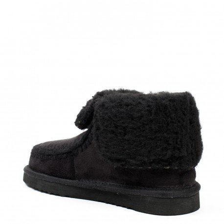 Ideal Shoes - Boots fourrés avec coutures apparentes Lolinie Noir
