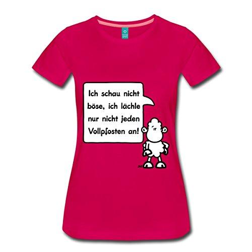 Lamm Dunkler T-shirt (Spreadshirt Sheepworld - Ich schau nicht böse,... Frauen Premium T-Shirt, 3XL, dunkles Pink)