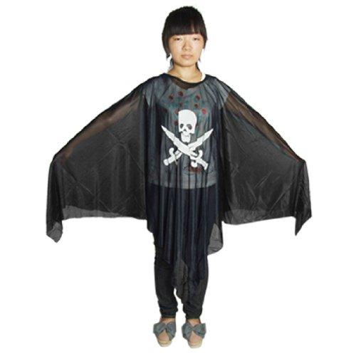 sourcingmap® Erwachsene Halloween Cosplay Schädel Spinnennetz Ghost Robe -