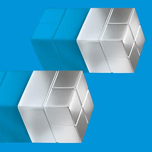 Sigel GL706 SuperDym-Magnete silber, massives Alu, 2er-Set, für Glas-Magnettafeln, 2x2x2 cm - weitere Größen/Farben