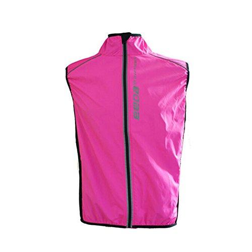 West Biking Frauen winddicht, Thermo Reflektierende atmungsaktiv Fahrrad Jersey Radfahren Ärmellos Wind Mantel Windcoat Jacke Weste Rose Rot/Grün, Mädchen Herren Kinder damen unisex, - Reflektierende Fahrrad Shirt