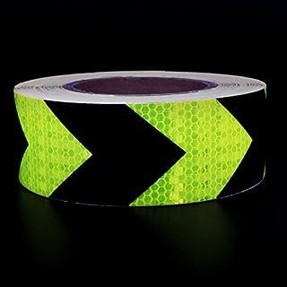 Andux Zone Klebeband Warnklebeband Reflektorband Sicherheit Markierung Band FGJ-01 (Gelb/schwarz Pfeil 5cm x 25m)