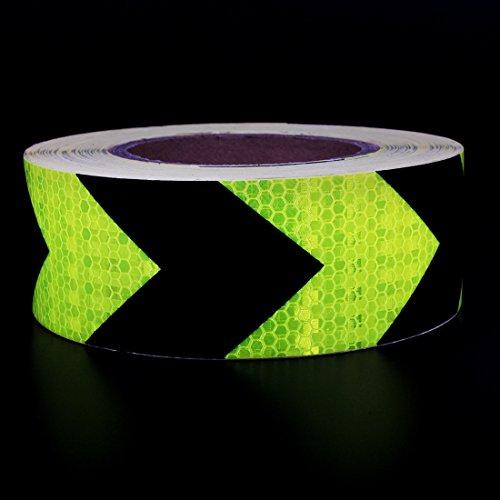 Preisvergleich Produktbild Andux Zone Klebeband Warnklebeband Reflektorband Sicherheit Markierung Band FGJ-01 (Gelb / schwarz Pfeil 5cm x 25m)