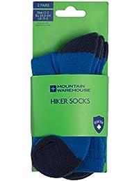 Mountain Warehouse Calcetines de los Cabritos del Hiker 2 Paquetes -Invierno, Calcetines de los niños rellenados del Dedo del pie, Inverno, Calcetines Que acampan cómodos