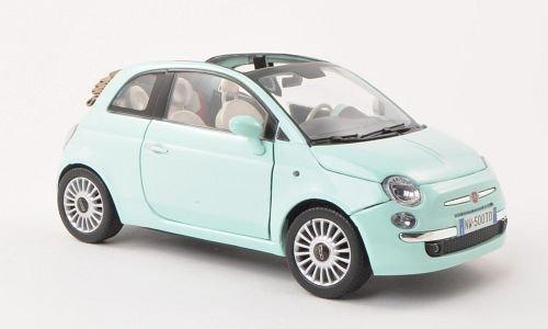 Fiat Nuova 500 Cabrio, hell-grün , Modellauto, Fertigmodell, Motormax 1:18