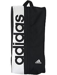 adidas Linear Performance Shoe Bag - Black/Black/White, One Size
