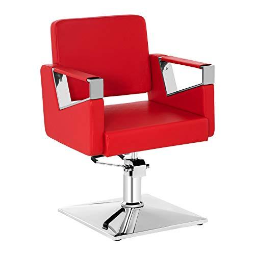 Physa poltrona da parrucchiere sedia barbiere physa bedford red (rossa, 200 kg, pompa idraulica, 360°)