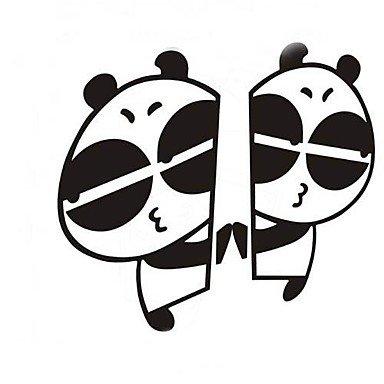 Preisvergleich Produktbild KLDZIDNI Panda Cartoon lustig der Riss des reflektierenden Autoaufkleber (2pc) ,  white KLDZIDNI&5008