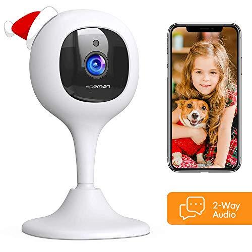 APEMAN 1080P WLAN Kamera Überwachungskameras und Babyphone mit Nachtsicht Fernüberwachung kompatibel mit IOS/Android