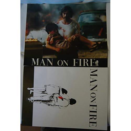 10 photos couleurs (24 cm x 30 cm) + Dossier de presse de 25 pages de Man on fire (1987), film de Elie Chouraqui avec Scott Glenn – Bon état.