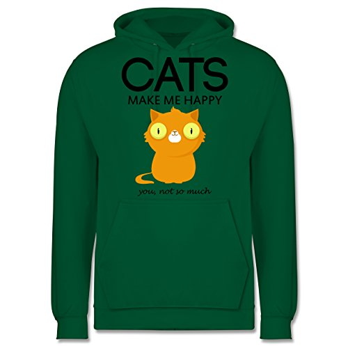 Katzen - Cats make me happy - you not so much - Männer Premium Kapuzenpullover / Hoodie Grün