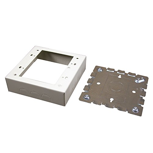 Wiremold B-32 2 Gang Metal Switch Box, Ivory by Wiremold Wiremold Box