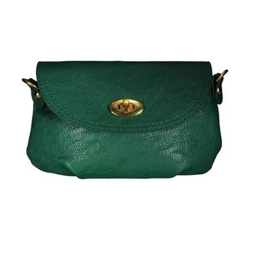 TOOGOO(R) Femme Dame Sac a main Cartable bandouliere bourse Sacs Fourre-Tout Bandouliere Messenger Vert fonce