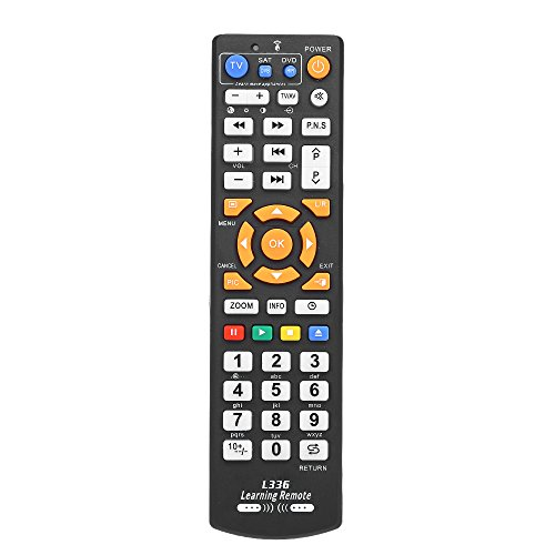 Docooler Universal TV Fernbedienung Wireless Smart Controller Ersatz mit Lernfunktion Fernbedienung für Smart TV CBL DVD Schwarz (Beste Universal-fernbedienung)
