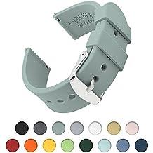 Bracelet de Montre Homme et Femme   Ajustable en Silicone Souple et Robuste   pour Montre Classique et Smartwatch (Gris Cadet, 22mm)