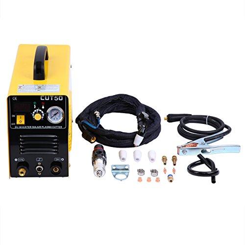Ridgeyard CUT50 schweißgerät plasmaschneider Plasma Cutter 50Amp 220V Inverter Luft mit Elektro Druck Digitalanzeige mit EU Stecker