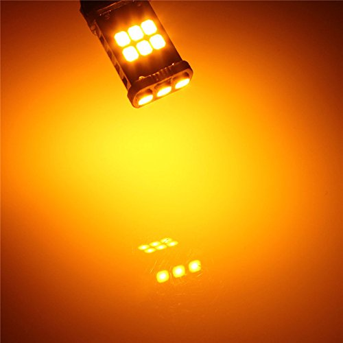MASUNN 15W 15 SMD T15 3535 lumières de Conduite Blanc Pur Ambre DC9-20V - Amber