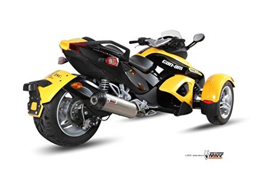 Preisvergleich Produktbild MIVV-Auspuff CAN-AM SPYDER 1000 Bj.ab 2007 (OVAL, Titan Carbon-cap, Motorrad)