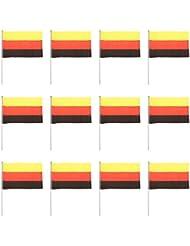 12pcs Juguetes Juegos Materiales Competiciones Banderas Mano Agitando - Alemania