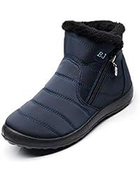 ... Cuir Plates Fourrées Boots Chaussures Lacets Classiques Chaudes… tqgold  Bottes de Neige Femme Hiver Chaude Chaussures Imperméable Bottines bf5f1f17986b