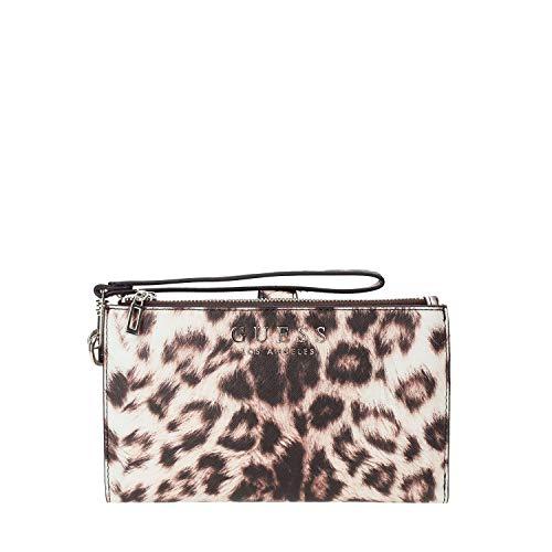 Guess robyn slg double zip organizer leo leopard