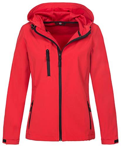 Original-kapuzen-jacke (Stedman Softshell-Jacke mit Kapuze für Damen, leichte Funktions-Jacke, original Active Outdoor, Größe L)