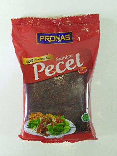 Pronas Bumbu Pecel Pedas (sauce à l'arachide chaude), 185 grammes