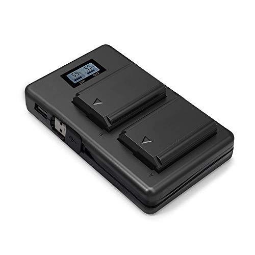 FW50 Batterie pour Sony Alpha7 / 7ii / 6500/6400 / 6300/6000 / 5100 NEX-7 NEX-6 NEX-F3 NEX-3 Nex-5 NEX-5N NEX-5T SLT A55V A33 A35 A37 etc. 2 Batteries de Rechange 1100 mAh 2,1 A