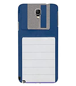 ColourCraft Floppy Disk Design Back Case Cover for SAMSUNG GALAXY NOTE 3 NEO DUOS N7502