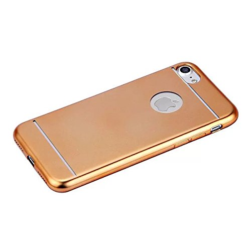 Etsue TPU Case für iPhone 7(4.7 Zoll) 2016 Plating Silikon Schutzhülle, Luxus Hochwertig Electroplate Überzug TPU Silikon Schutz Handy Hülle Mode Kreativ Ultradünnen Kratzfeste Weiche Rückseite Handy  Golden