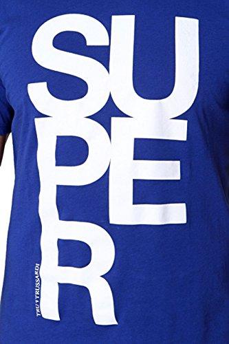 Trussardi Tru Herren Shirt Motiv T-Shirt Blau
