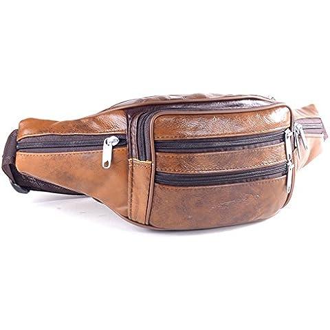 wewod uomini lässig Pelle Retro borsa da cintura, Personalized color, 21*14*13 cm