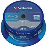 Verbatim 43772 Blu ray BD-R simple couche LTH Anti-rayures 6x 25 Go Pack de 25