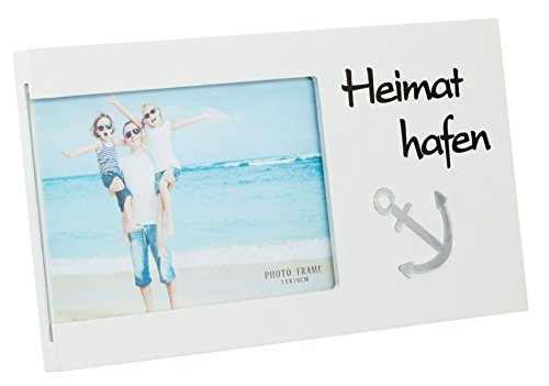 Preis am Stiel Bilderrahmen Heimathafen | Holz | Liebe | Familie | Deko | Wohnen | Wohnaccessoires | Haushalt | Liebe | Wand | Freundschaft | Geschenk | Glas | Valentienstag