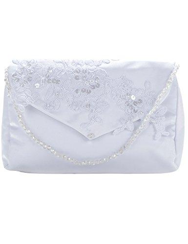 Princess Taufkleid Brauttasche aus Satin - M T18