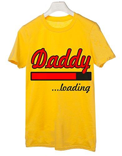 t-shirt Daddy loading - tutte le taglie uomo donna maglietta by tshirteria giallo