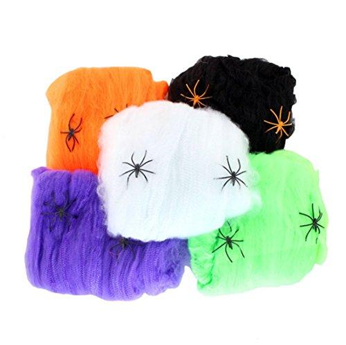 ne Halloween Spider Cotton Dekorative Supplies, Halloween Spinnennetz (Spinnennetz-spray Halloween)