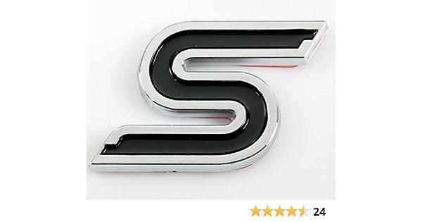 Quattro distintivi in nero e rosso. Quattro Sport Emblema Pack per radiatore