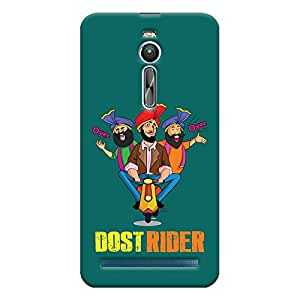 ColourCrust Asus Zenfone 2 ZE550ML Mobile Phone Back Cover With Dost Rider Quirky - Durable Matte Finish Hard Plastic Slim Case