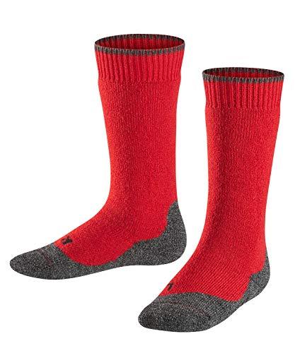FALKE Kinder Kniestrümpfe Active Warm+, Wollmischung, 1 Paar, Rot (Fire 8150), Größe: 23-26